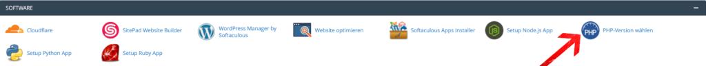 PHP-Version / Module ändern