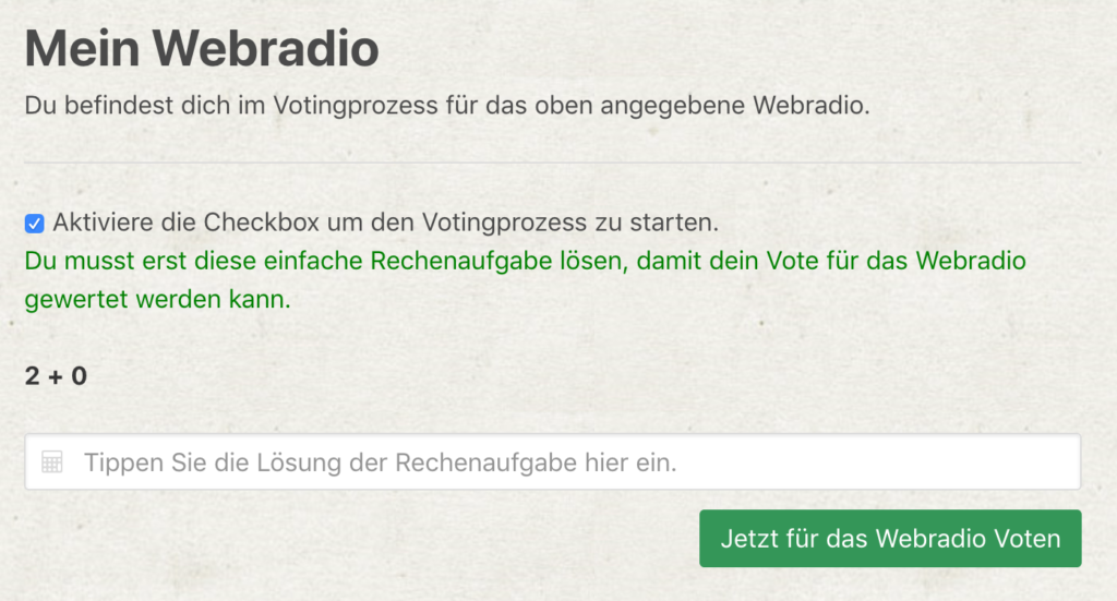 webradiotop100.de - New voting process